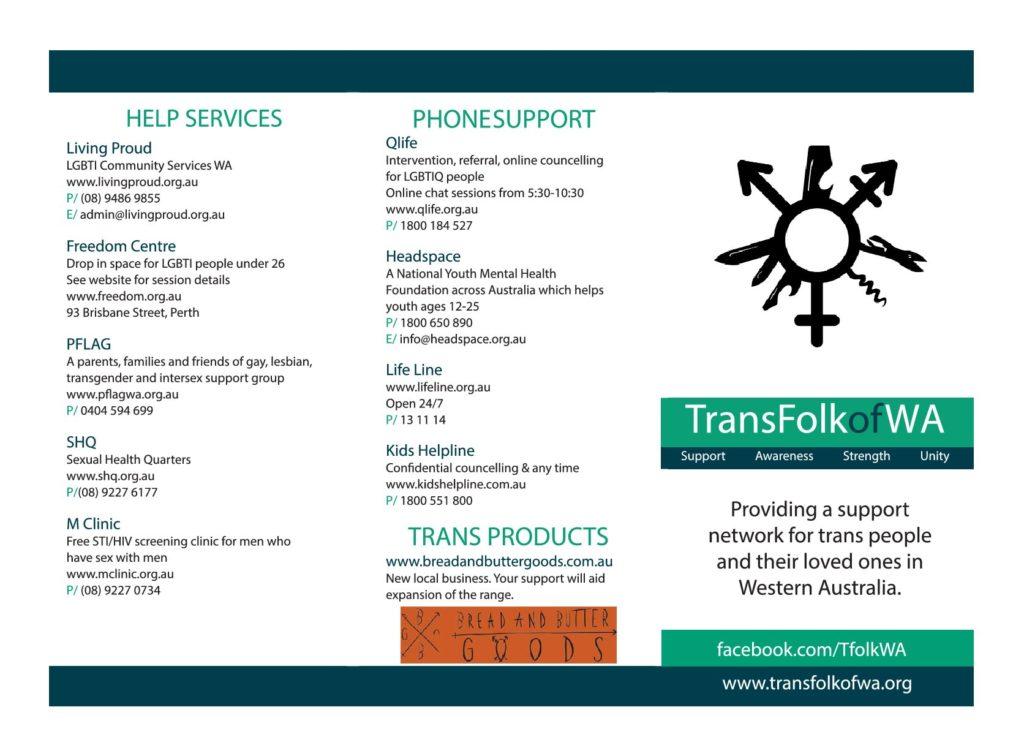TransFolk of WA Brochure