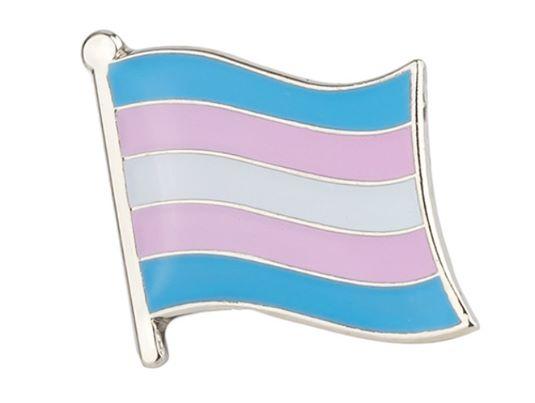 trans pride flag pin